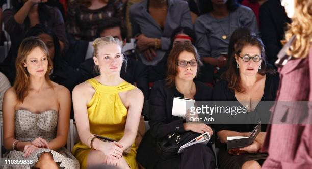 Actresses Alexie Gilmore Leven Rambin Elizabeth Bracco and Lorraine Bracco attend Nanette Lepore Fall 2008 during MercedesBenz Fashion Week at the...