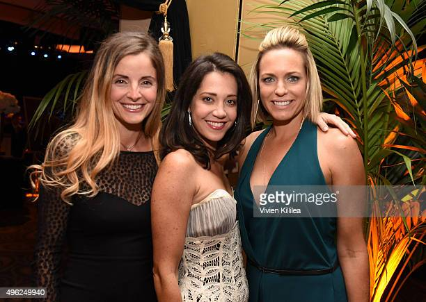 Actresses Alexis Thorpe Heather Lindell and Arianne Zucker attend the Days Of Our Lives' 50th Anniversary Celebration at Hollywood Palladium on...