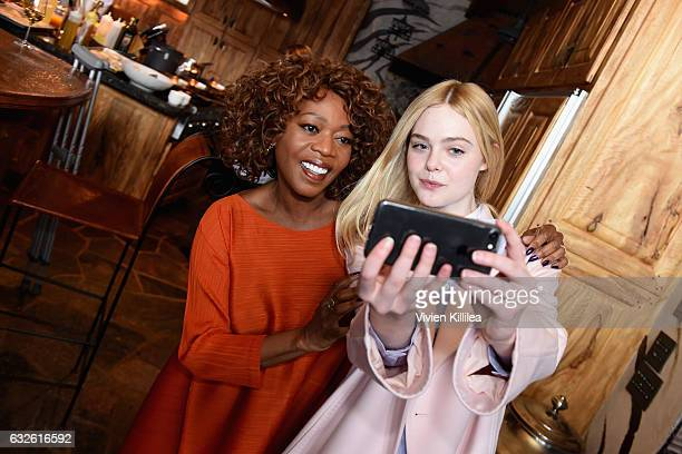 Actresses Alfre Woodard an Elle Fanning attend Lunch Celebrating Films Powered By Women Hosted By Glamour's Cindi Leive And Girlgaze's Amanda de...