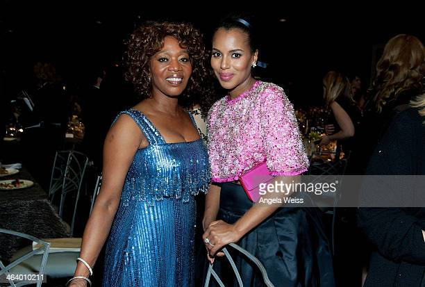 Actresses Alfre Woodard and Kerry Washington attend the 20th Annual Screen Actors Guild Awards at The Shrine Auditorium on January 18, 2014 in Los...