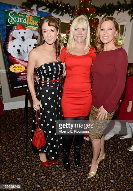 Actresses Ali Hillis Jennifer Elise Cox and Cheryl Ladd attend the 'Santa Paws 2 The Santa Pups' holiday party hosted by Disney Cheryl Ladd and Ali...