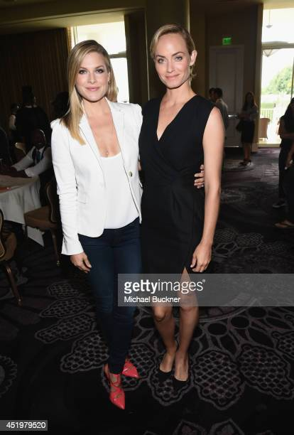 Actresses Ali Larter and Amber Valletta attend the Legends portion of the 2014 TCA Turner Broadcasting Summer Press Tour Presentation at The Beverly...