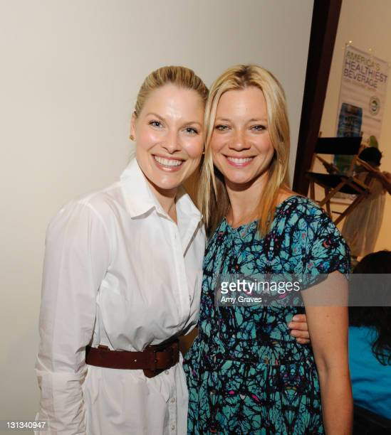 Actresses Ali Larter and Amy Smart attend the Pregnancy Awareness Month 2011 Event at Bergamot Station on May 1 2011 in Santa Monica California