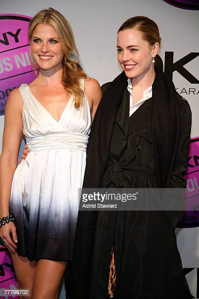 Actresses Ali Larter and Melissa George attends the DKNY Delicious Night fragrance launch party on November 7 2007 in New York City