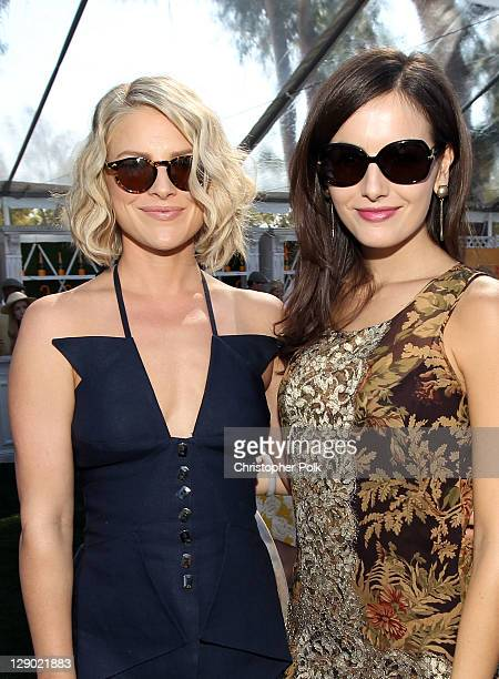 Actresses Ali Larther and Camilla Belle attend the Veuve Clicquot Polo Classic Los Angeles at Will Rogers State Historic Park on October 9, 2011 in...