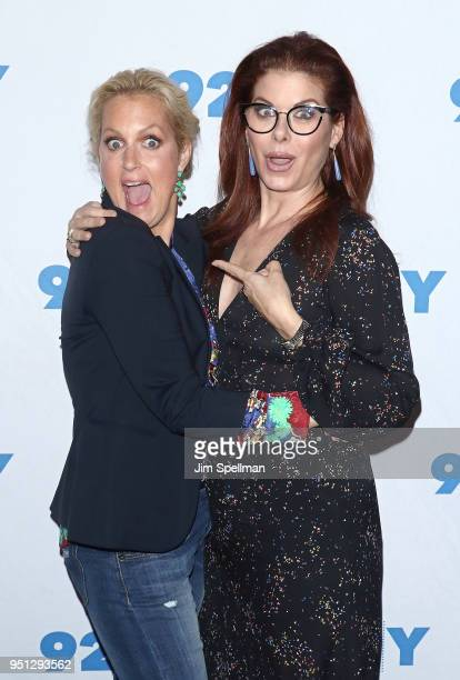 Actresses Ali Wentworth and Debra Messing attend a conversation at 92nd Street Y on April 25 2018 in New York City