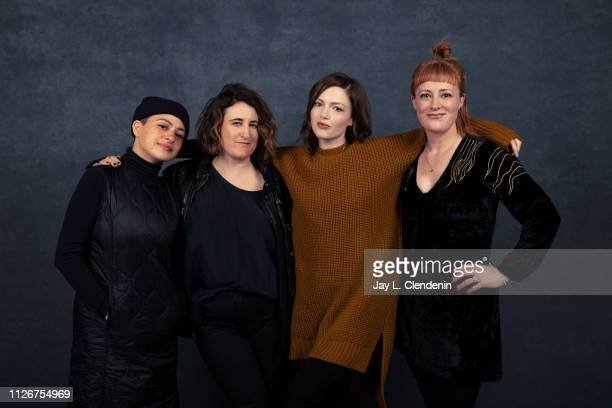 Actresses Alia Shawkat director Sophie Hyde Holliday Grainger and writer Emma Jane Unsworth from 'Animals' are photographed for Los Angeles Times on...