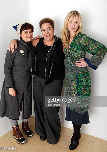 Actresses Alia Shawkat, Marcia DeBonis and Anne Heche pose for a portrait during the 2012 Sundance Film Festival at the WireImage Portrait Studio at...