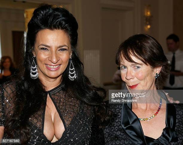 Actresses Alice Amter and Celia Imrie attend BritWeek's 10th Anniversary VIP Reception Gala at Fairmont Hotel on May 1 2016 in Los Angeles California