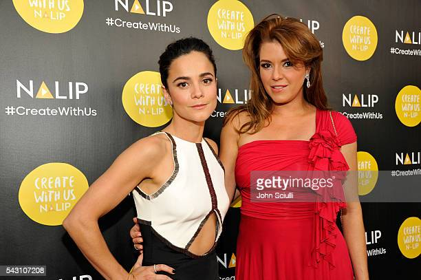 Actresses Alice Braga and Alicia Machado attend the NALIP 2016 Latino Media Awards at Dolby Theatre on June 25 2016 in Hollywood California