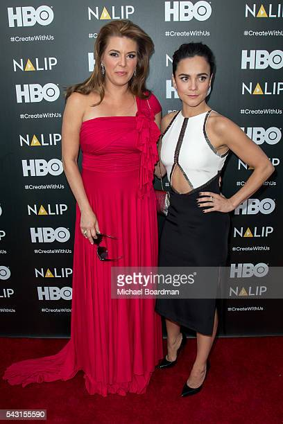 Actresses Alice Braga and Alicia Machado attends the NALIP 2016 Latino Media Awards at the Dolby Theatre on June 25 2016 in Hollywood California