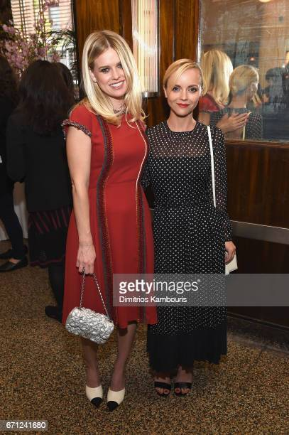 Actresses Alice Eve and Christina Ricci attend CHANEL Tribeca Film Festival Women's Filmmaker Luncheon at The Odeon on April 21 2017 in New York City