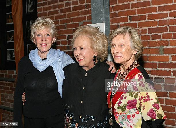 Actresses Alice Hirson Doris Roberts and Cloris Leachman attend the VDAY West LA 2006 cocktail reception at the Ivy Substation on April 24 2006 in...