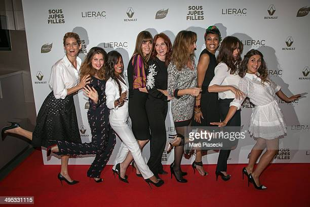 Actresses Alice Taglioni Laetitia Casta Alice Belaidi Marina Hands Audrey Fleurot Julie Ferrier Imany Audrey Dana and Geraldine Nakache attend the...