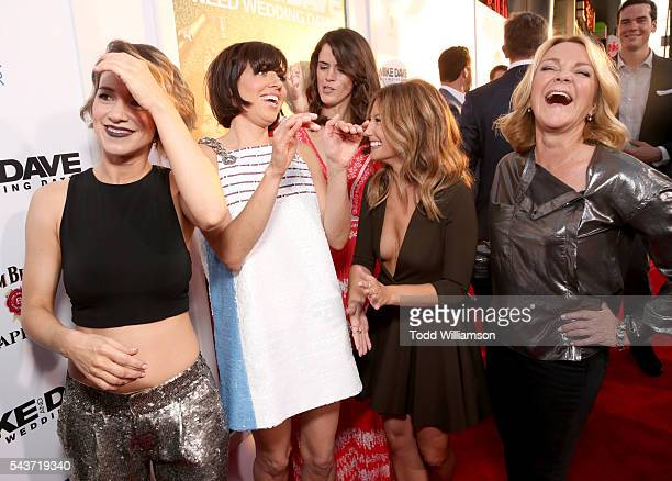 Actresses Alice Wetterlund Aubrey Plaza Mary Holland Sugar Lyn Beard and Stephanie Faracy attend the premiere of 20th Century Fox's Mike and Dave...