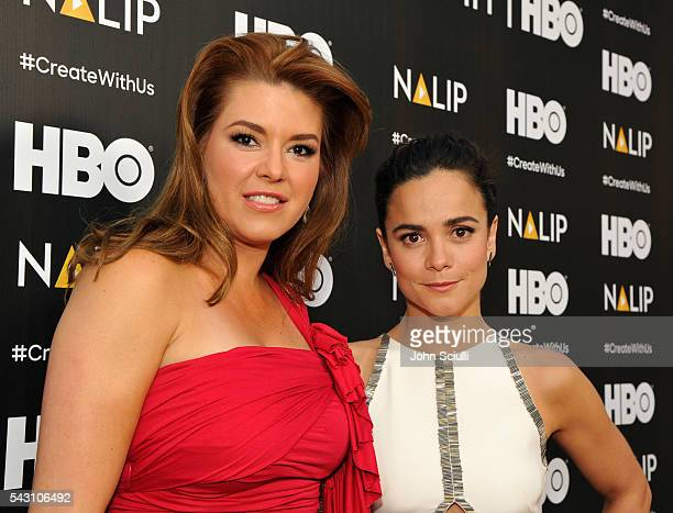 Actresses Alicia Machado and Alice Braga attend the NALIP 2016 Latino Media Awards at Dolby Theatre on June 25 2016 in Hollywood California