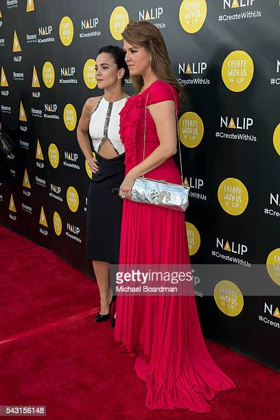Actresses Alicia Machado and Alice Braga attends the NALIP 2016 Latino Media Awards at the Dolby Theatre on June 25 2016 in Hollywood California