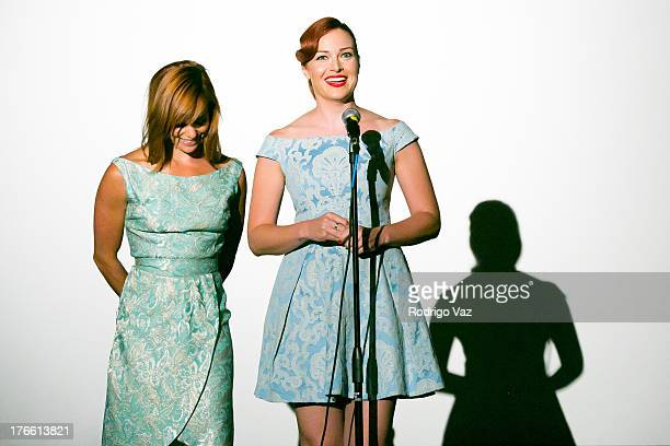 Actresses Alicia Malone and Amy Paffrath host the 9th Annual HollyShorts Film Festival Opening Night Inside at TCL Chinese Theatre on August 15 2013...