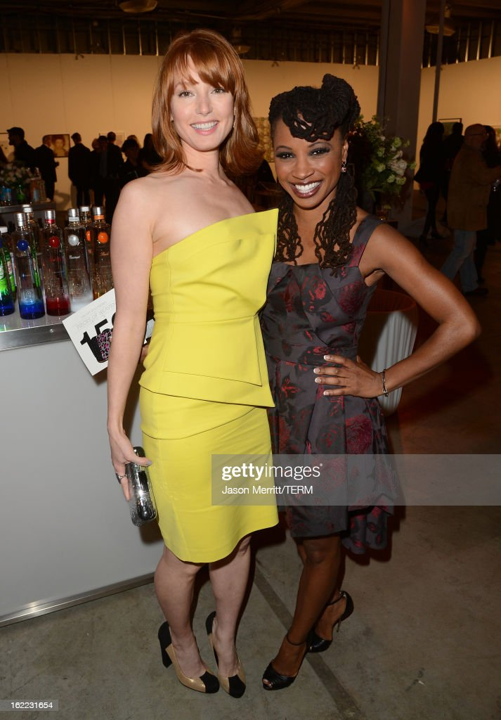 Actresses Alicia Witt and Shanola Hampton attend the Art Of Elysium's 6th Annual Pieces Of Heaven powered by Ciroc Ultra Premium Vodka at the Ace Museum on February 20, 2013 in Los Angeles, California.