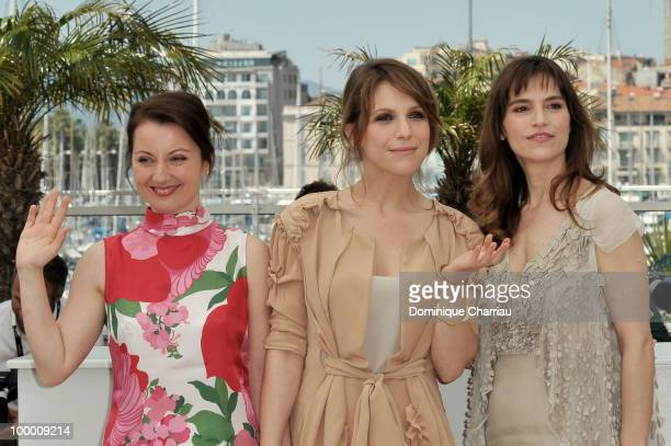 Actresses Alina Berzenteanu Isabella Ragonese and Stefania Montorsi attend the 'Our Life' Photo Call held at the Palais des Festivals during the 63rd...