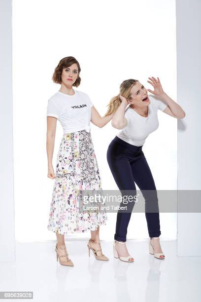 Actresses Alison Brie and Betty Gilpin of Netflix's 'GLOW' are photographed for Entertainment Weekly Magazine on June 11 2017 in Austin Texas