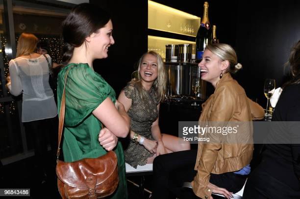Actresses Alissa Jung Nova Meierhenrich and JytteMerle Boehrnsen attend the 'Next Generation' reception during day eight of the 60th Berlin...