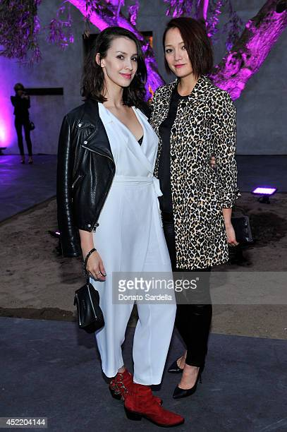 Actresses Alixandra von Renner and Pom Klementieff attend Dior and Maxfield Celebrate the Launch of Winter 2014 Dior Fusion Sneaker Collection with a...