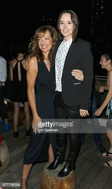 Actresses Allison Janney and Ellen Page attend the special screening after party for Tallulah hosted by Netflix at Jimmy at The James Hotel on July...