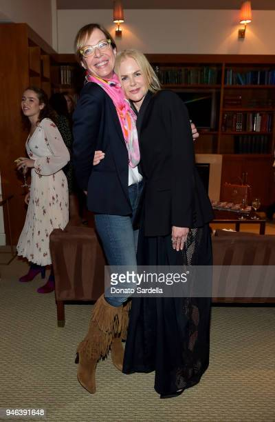 Actresses Allison Janney and Nicole Kidman attend InStyle and Brahmin's Badass Women Dinner hosted by Laura Dern on April 14 2018 in West Hollywood...