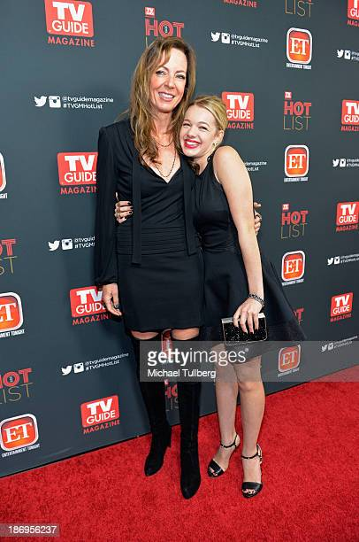 Actresses Allison Janney and Sadie Calvano attend TV Guide Magazine's Annual Hot List Party at The Emerson Theatre on November 4 2013 in Hollywood...