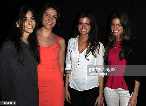 Actresses Allison Weissman Riley Rose Critchlow Helena Mehalis and Maria Mehalis attend the Screening Of 'John Dies At The End' held at Landmark...