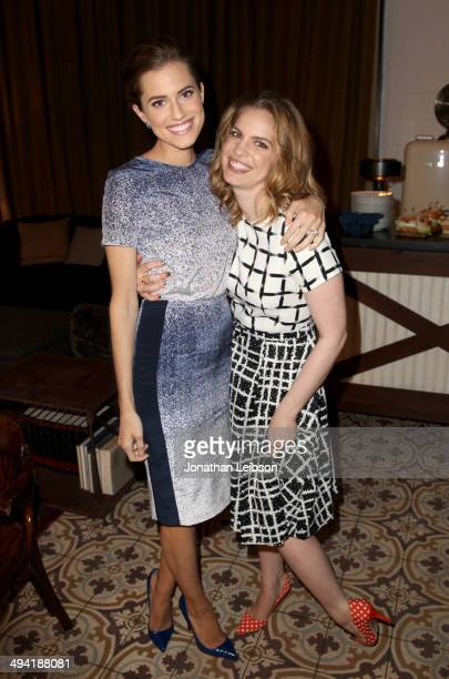 Actresses Allison Williams and Anna Chlumsky attend the Variety Studio powered by Samsung Galaxy on May 28 2014 in West Hollywood California