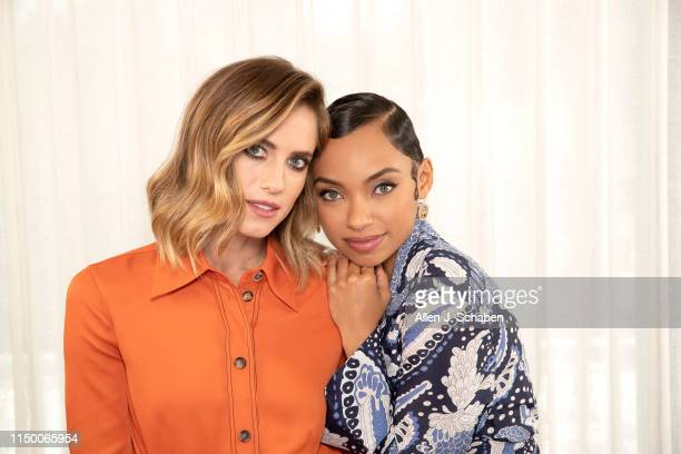 Actresses Allison Williams and Logan Browning are photographed for Los Angeles Times on May 16 2019 in Hollywood California PUBLISHED IMAGE CREDIT...