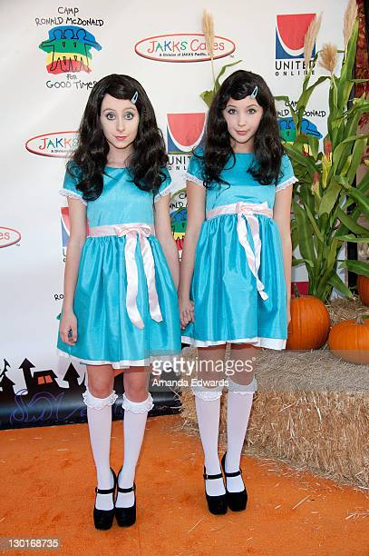 Actresses Allisyn Ashley Arm and Audrey Whitby arrive at Camp Ronald McDonald For Good Times' 19th Annual Halloween Carnival at Universal Studios on...