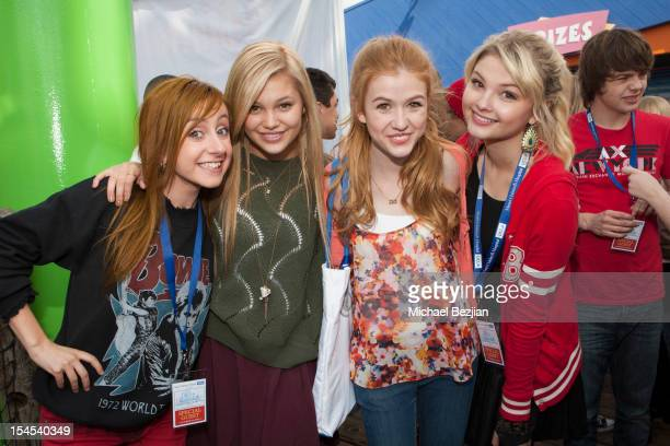 Actresses Allisyn Ashley Arm Olivia Holt Katherine McNamara and Stefanie Scott attend Mattel Party On The Pier Benefiting Mattel Children's Hospital...
