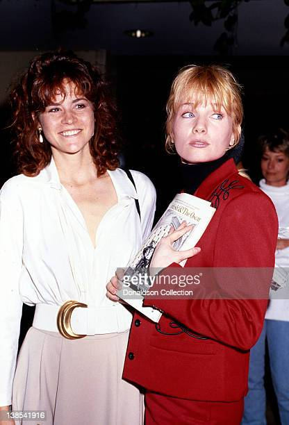 Actresses Ally Sheedy and Rebecca De Mornay attend an event in March 1988 in Los Angeles California