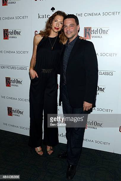 Actresses Alysia Reiner and actor David Alan Basche attend The Cinema Society and Kate Spade host a Screening of Sony Pictures Classics' Grandma at...