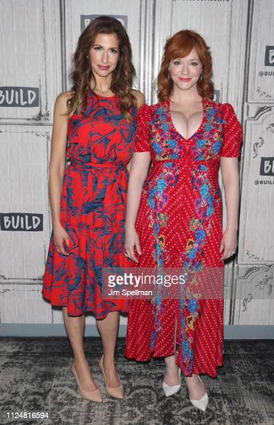 Actresses Alysia Reiner and Christina Hendricks attend the Build Series to discuss 'Egg' at Build Studio on January 25 2019 in New York City