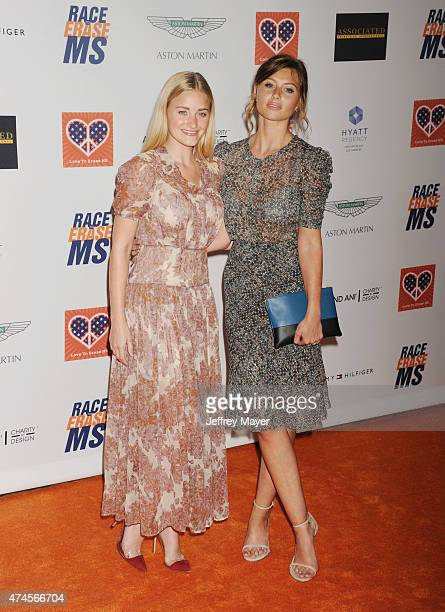Actresses Amanda AJ Michalka and Aly Michalka arrive at the 22nd Annual Race To Erase MS at the Hyatt Regency Century Plaza on April 24 2015 in...