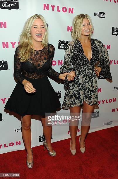 Actresses Amanda and Alyson Michalka arrive at NYLON Magazine's May Young Hollywood Issue Celebration at Bardot on May 4 2011 in Hollywood California