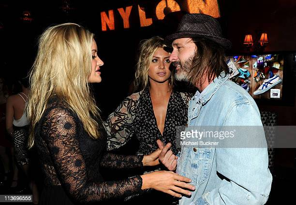 Actresses Amanda Michalka Alyson Michalka and producer Matt Goldman attend NYLON Magazine May Young Hollywood Celebration Hosted by Emma Roberts and...