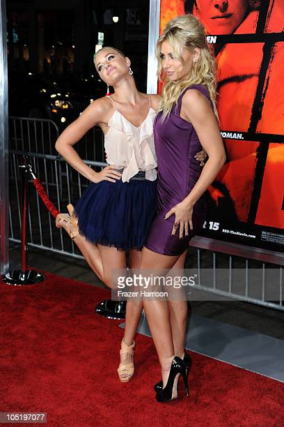 Actresses Amanda Michalka and Alyson Michalka arrives at a special screening of Summit Entertainment's 'RED' at Grauman's Chinese Theatre on October...