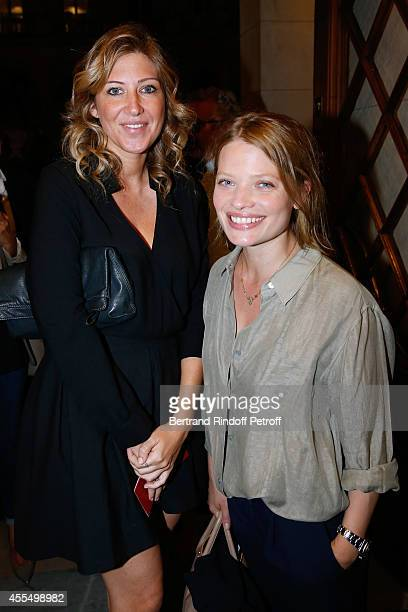 Actresses Amanda Sthers and Melanie Thierry attend 'Un diner d'adieu' Premiere Held at Theatre Edouard VII on September 15 2014 in Paris France