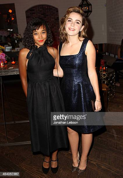 Actresses Amandla Stenberg and Kiernan Shipka attend Variety and Women in Film Emmy Nominee Celebration powered by Samsung Galaxy on August 23 2014...