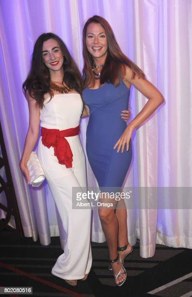 """Actresses Amber Martinez and Anna Easteden attend The World Networks Presentation of """"A Private Intimate Event"""" held at Allure Events And Catering on..."""