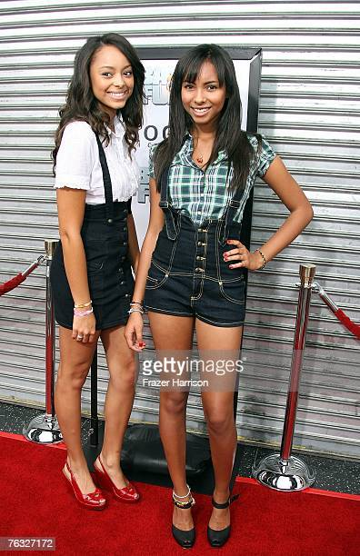 Actresses Amber Stevens and Chyna Stevens attend the premiere of Rogue Pictures' Balls of Fury held at the Egyptian Theatre August 25 2007 in...