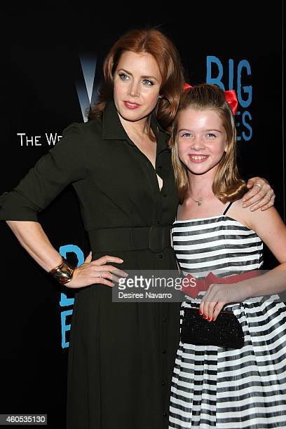 "Actresses Amy Adams and Delaney Raye attend ""Big Eyes"" New York Premiere at Museum of Modern Art on December 15, 2014 in New York City."