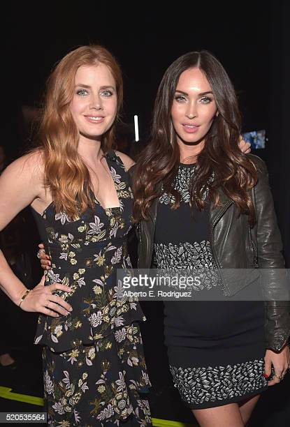Actresses Amy Adams and Megan Fox attend the CinemaCon 2016 Gala Opening Night Event: Paramount Pictures Highlights its 2016 Summer and Beyond Films...