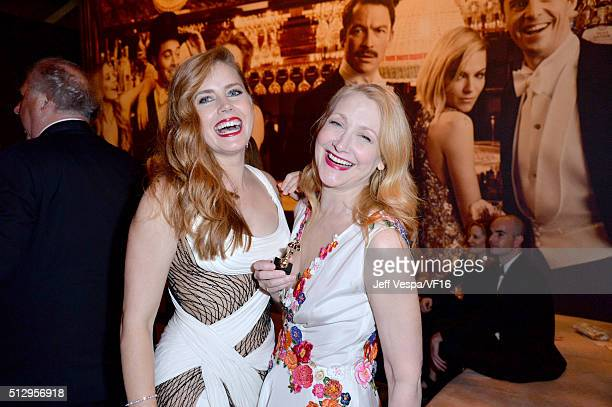 Actresses Amy Adams and Patricia Clarkson attend the 2016 Vanity Fair Oscar Party Hosted By Graydon Carter at the Wallis Annenberg Center for the...