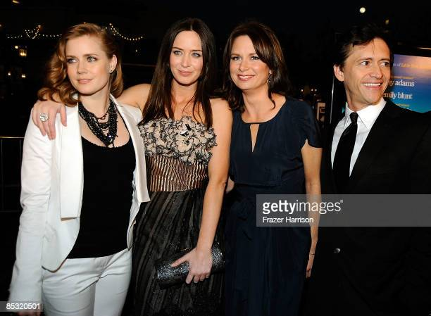 Actresses Amy Adams Emily Blunt Mary Lynn Rajskub and actor Clifton Collins Jr arrive at the Overture Film's screening of 'Sunshine Cleaning' held at...